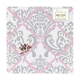 Pink & Gray Elizabeth Fabric Memo Board