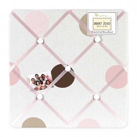 Pink and Brown Mod Dots Fabric Memo Board