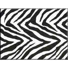 Bunkbed Sheets - Black & White Zebra Print