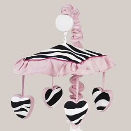 Hot Pink Zebra Mobile