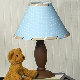 Blue and Brown Mod Dots Lamp Shade
