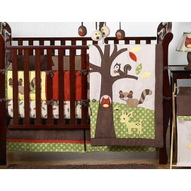 Forest Friends Crib Bedding Set by Sweet Jojo Designs - 9 piece