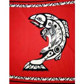 Salmon Polar Fleece Throw Blanket