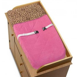 Cheetah Pink Changing Pad Cover