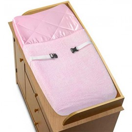 Chenille Pink Changing Pad Cover