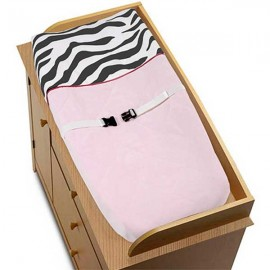 Hot Pink Zebra Changing Pad Cover