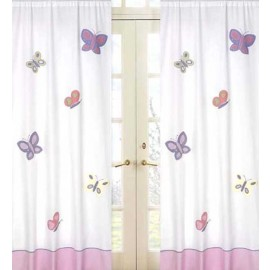 Butterfly Pink & Lavender Window Panels