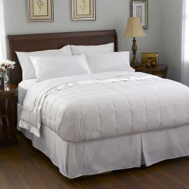 Pacific Coast Satin Trim Down Blanket - White - King Size