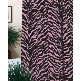 Black & Pink Zebra Print Shower Curtain