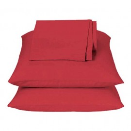 Solid Red Sheet Set - Twin Size from the Primary Colors Collection