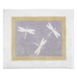 Lavender Dragonfly Dreams Floor Rug
