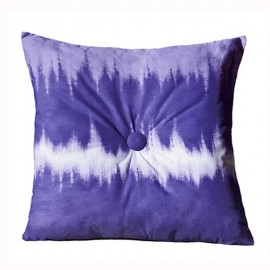 Purple Tie Dye Square Pillow