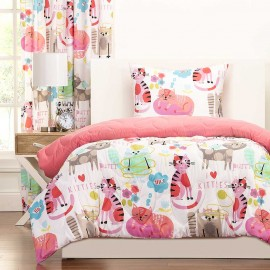 Crayola Purrty Cat Comforter Set - Twin Size