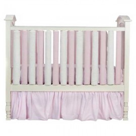 Wonder Bumper Vertical Crib Liners - Pink & Cream - 24 Pack