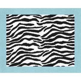 Blue Zebra Floor Rug
