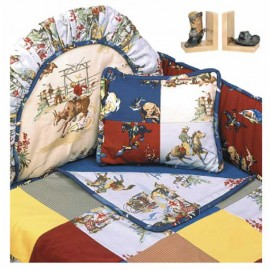 Rodeo Western Themed Crib Bedding Set (Hollywood Bumper) by California Kids