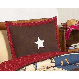 Cowboy Western Theme Pillow Sham