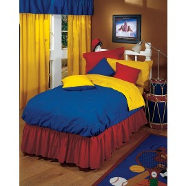 Yellow/Blue Bunkbed Comforter - Full Size from the Primary Colors Collection