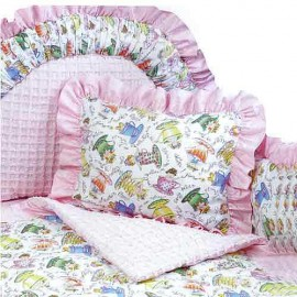 Tea Party 4 Piece Crib Bedding Set (Hollywood Bumper) by California Kids