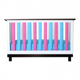 Wonder Bumper Vertical Crib Liners - Turquoise & Fuschia - 38 Pack