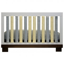 Wonder Bumper Vertical Crib Liners - Grey & Yellow - 38 Pack