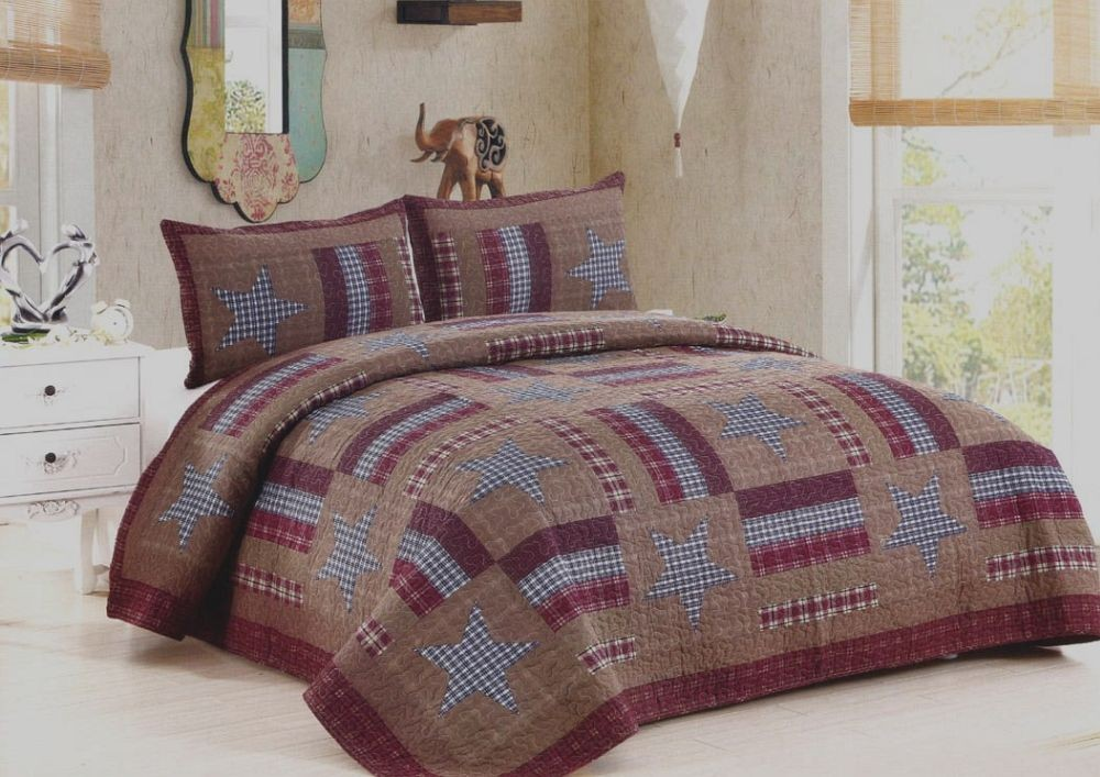 Barnwood Star Quilt American Hometex Quilts Full Size
