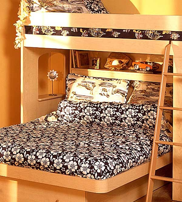 navy blue hibiscus print bunkbed hugger comforter twin size by california kids clearance. Black Bedroom Furniture Sets. Home Design Ideas