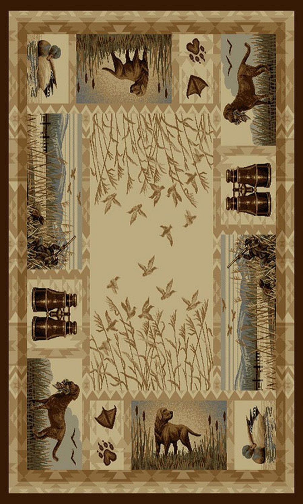 Wilderness 764 Duck Hunting Amp Dogs Design Area Rug Lodge