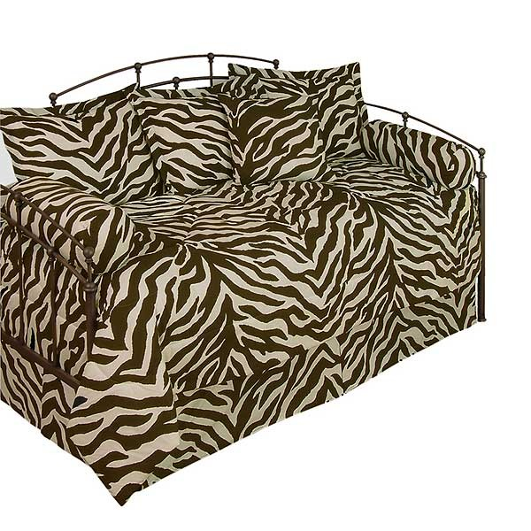 Zebra print daybed beddingset multi colored animal print Zebra print bedding