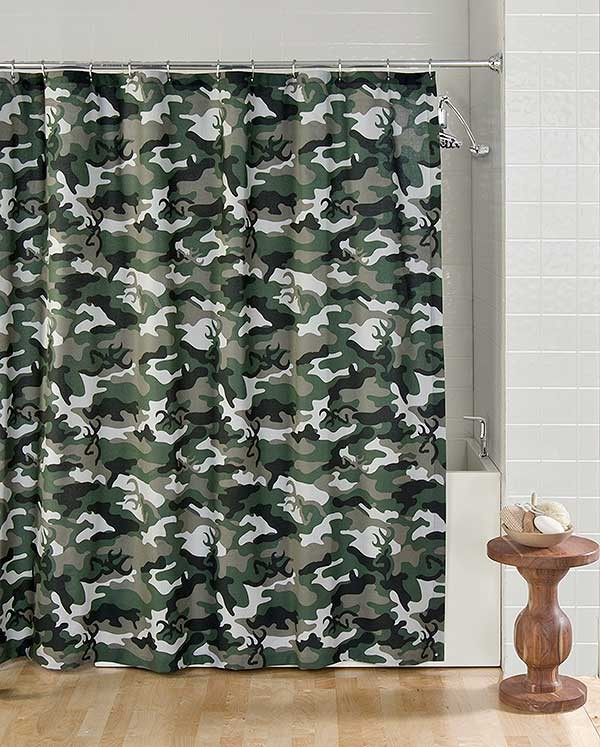 Buckmark Camo Green Shower Curtain Blanket Warehouse
