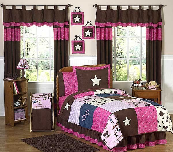 Cowgirl western bedding set 4 piece twin size by sweet for Cowgirl bedroom ideas
