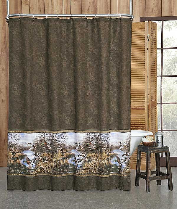 Duck Approach Shower Curtain