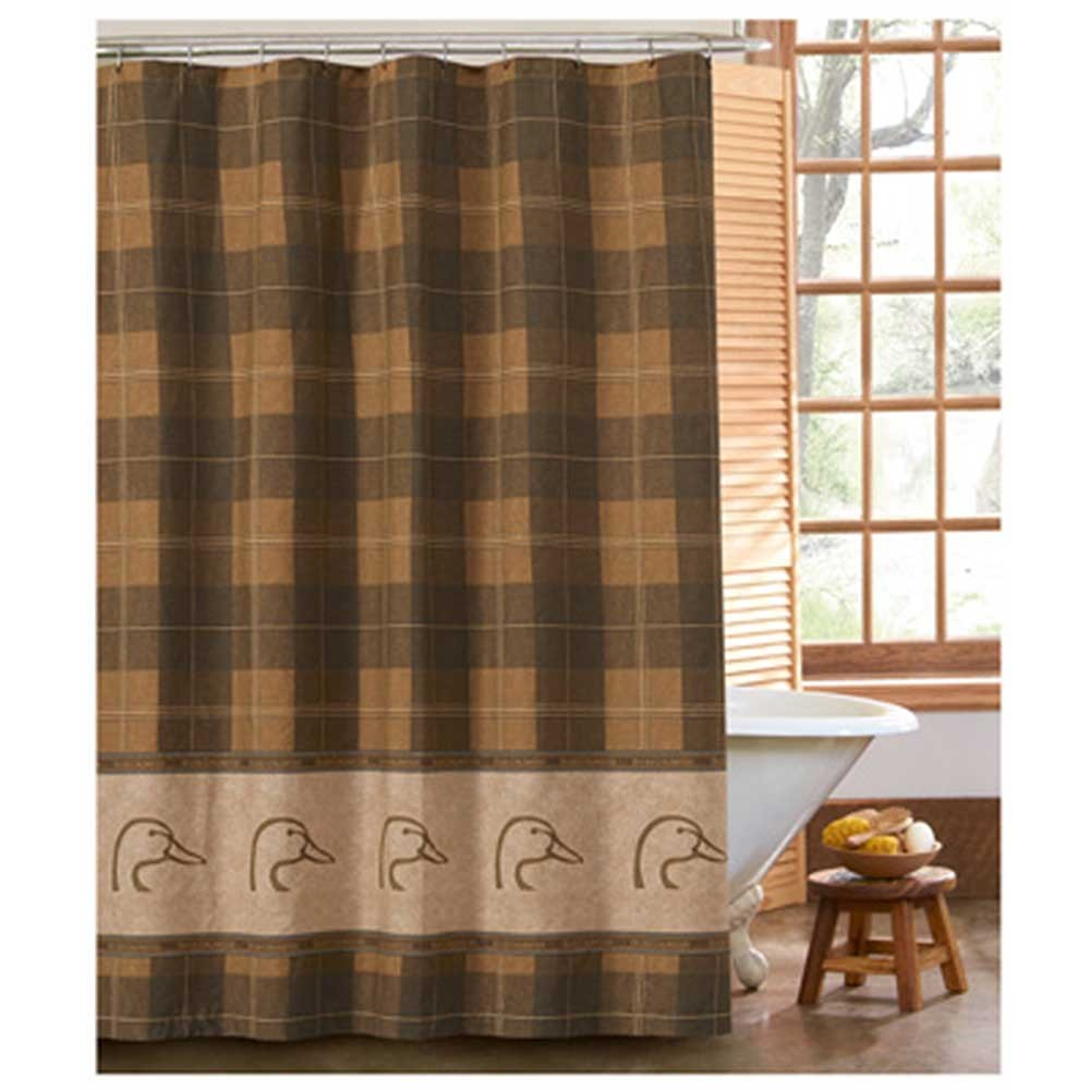 Ducks Unlimited Plaid Shower Curtain