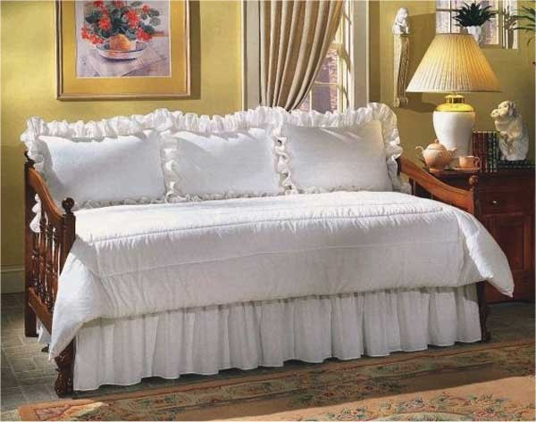 Daybeds Made In The Usa : Black white zebra print daybed set by mayfield
