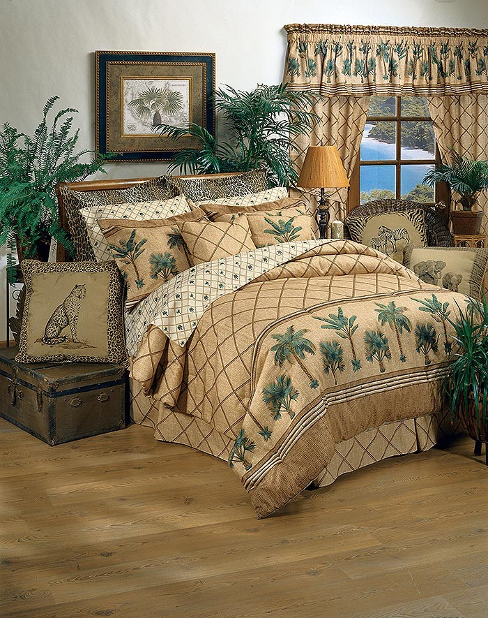 Kona Tropical Themed Queen Size Bedding Set From The