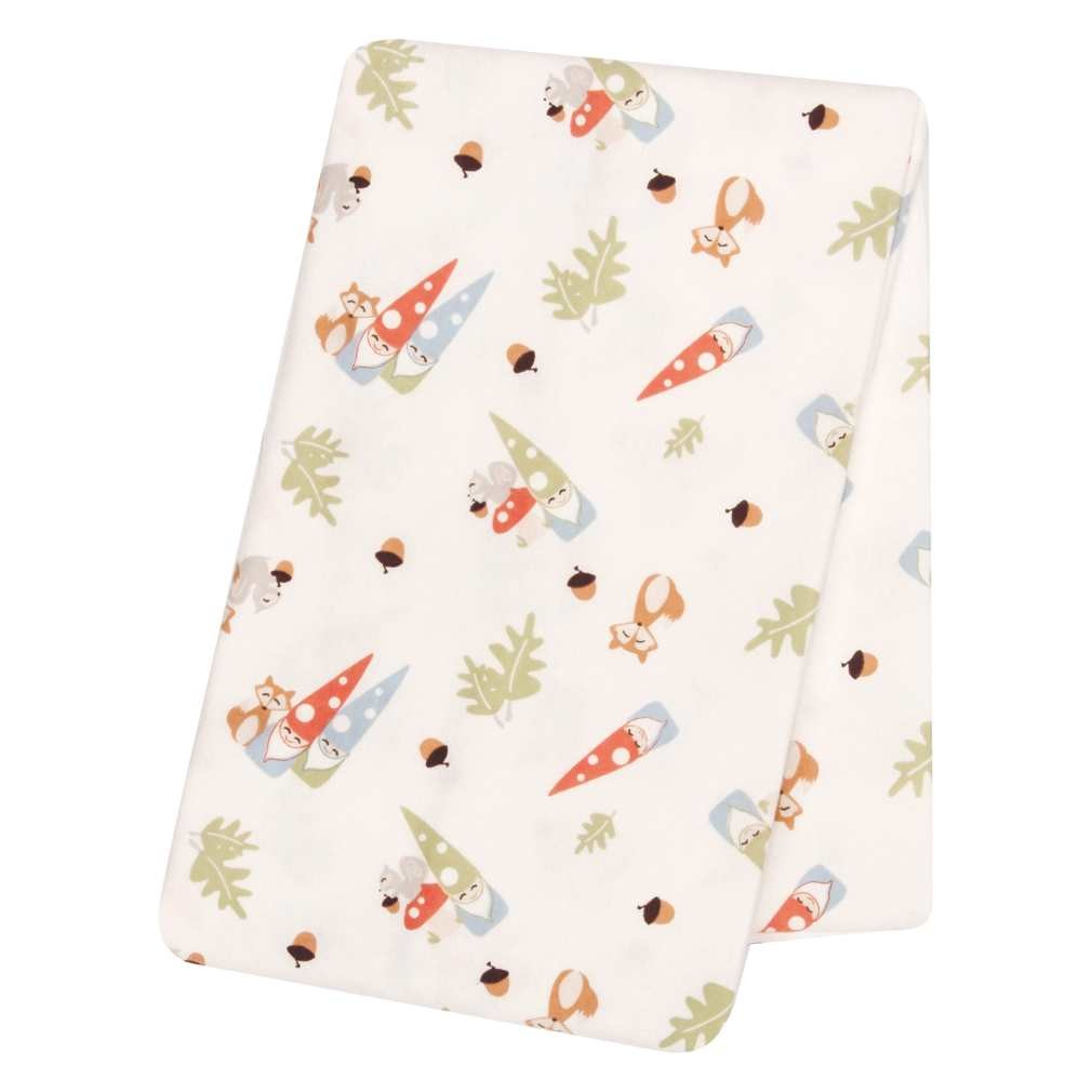 Forest Gnomes Deluxe Flannel Swaddle Blanket