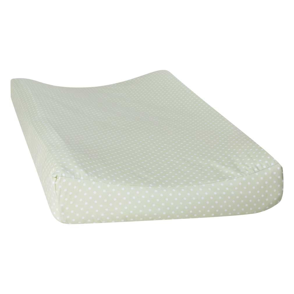 Sea Foam Dot Changing Pad Cover
