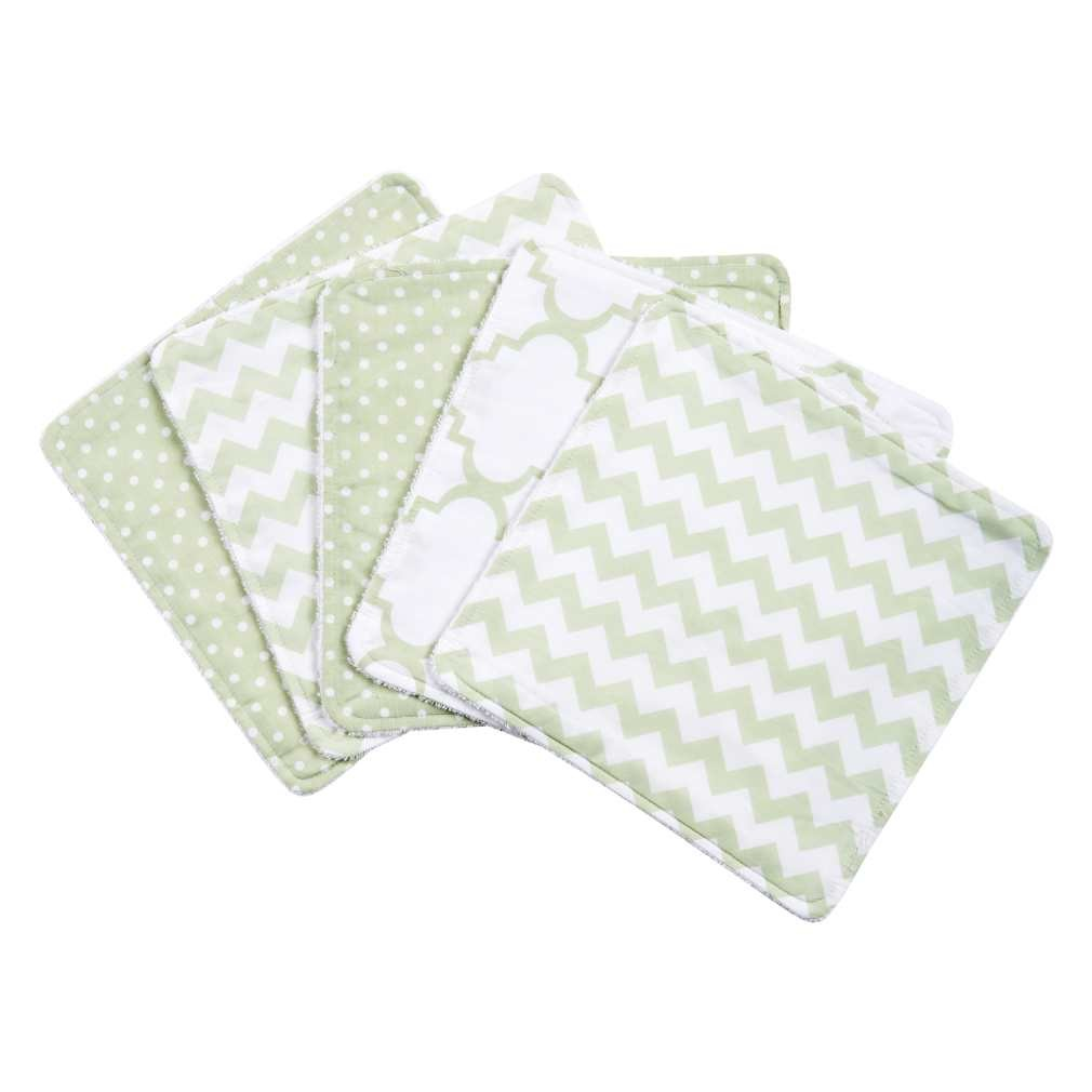Sea Foam 5 Pack Wash Cloth Set