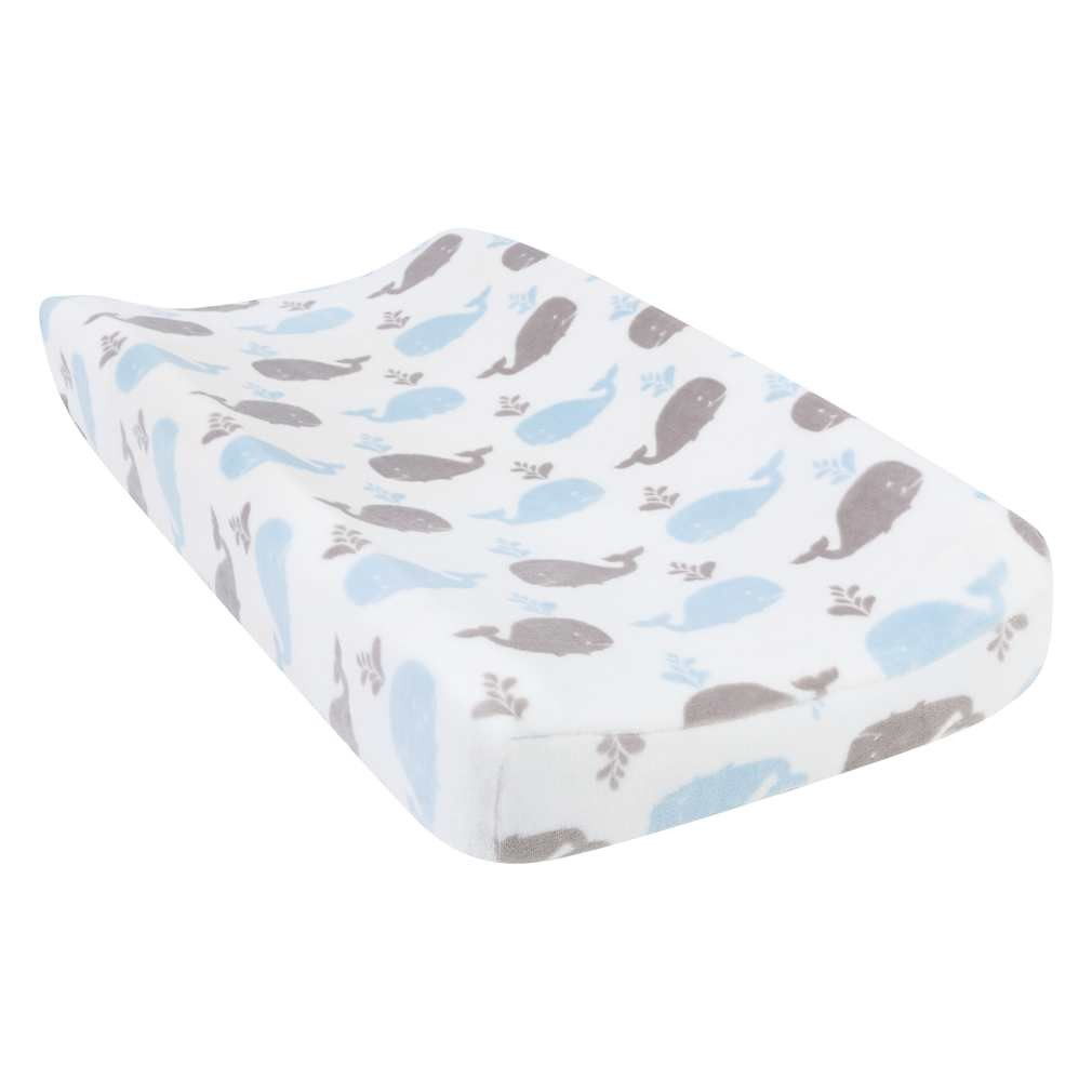 Whales Plush Changing Pad Cover