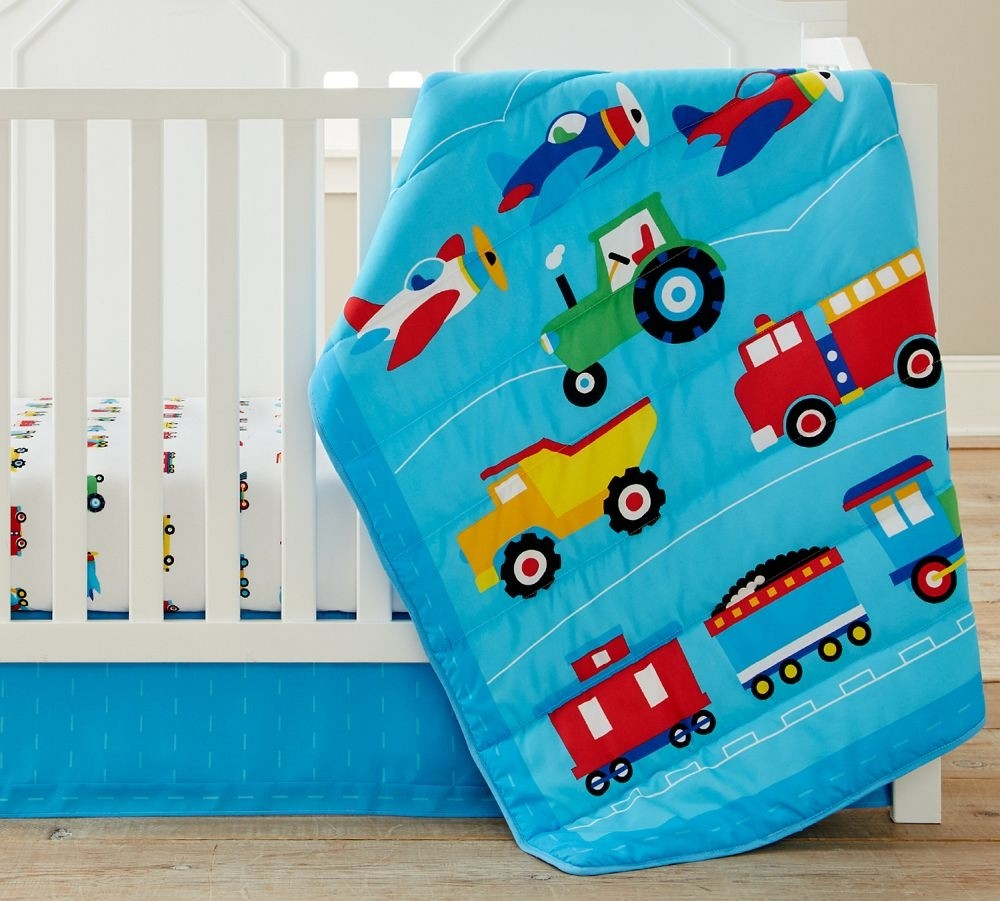 Olive Kids Trains, Planes, Trucks 3 Pc Crib Bedding
