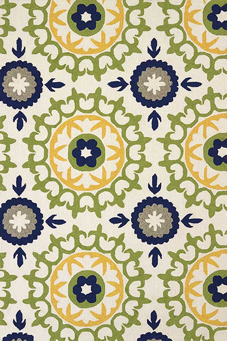 Carousel Apple Green Area Rug - Coastal Style Area Rug