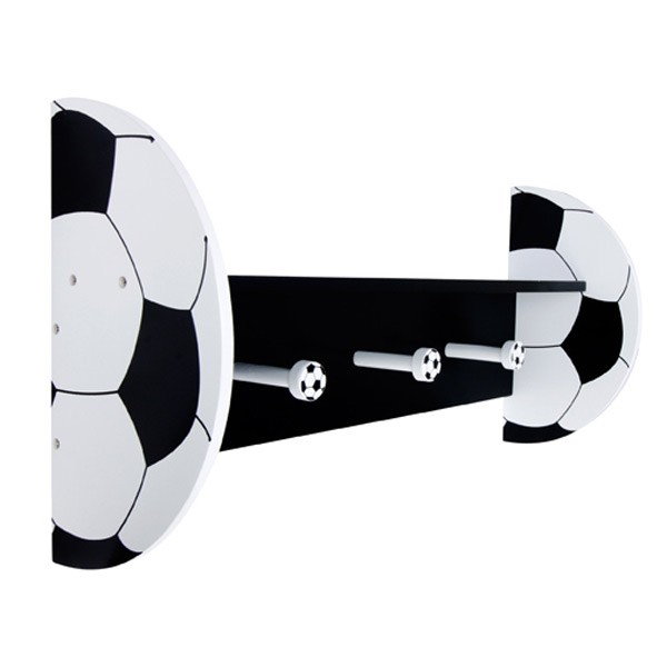 Soccer - Wall Shelf With Pegs