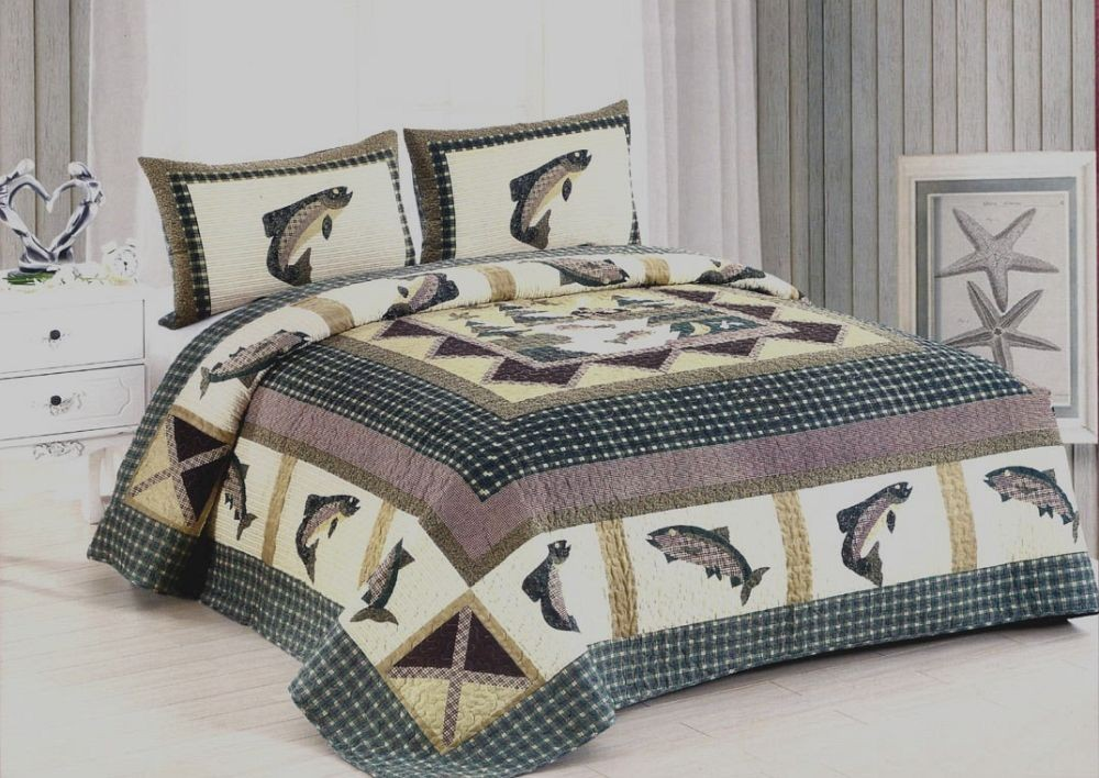 Fishermans Wharf Quilt Set - Queen Size - Includes Shams