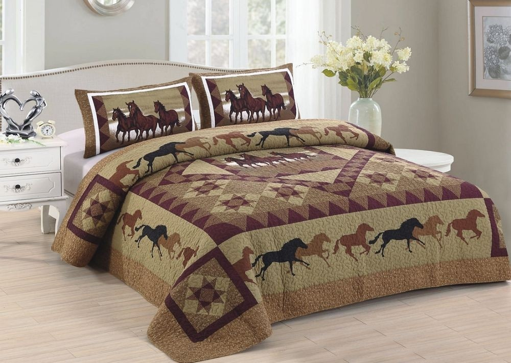 Horse Country Quilt Set - Queen Size - Includes Shams