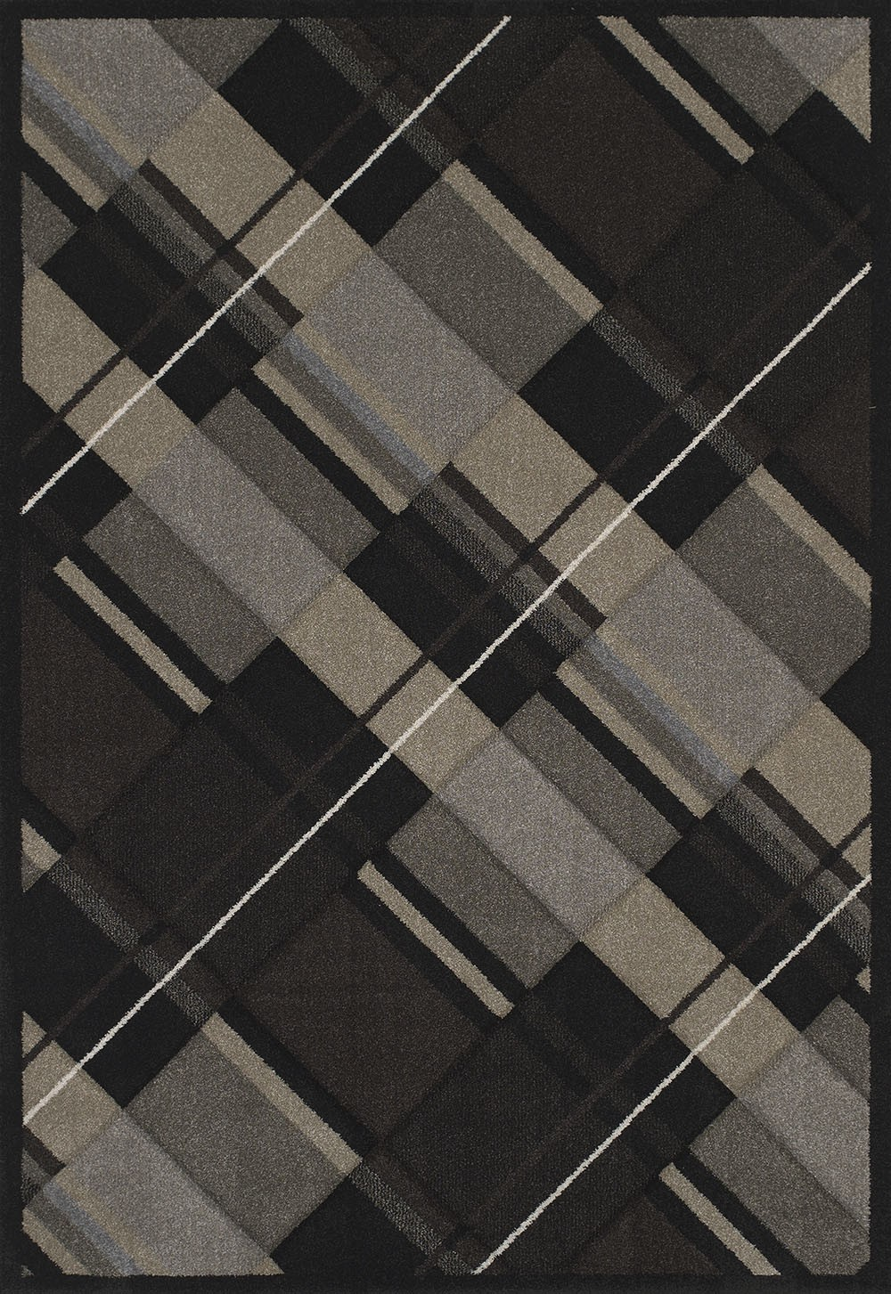Journey Black Area Rug - Contemporary Style