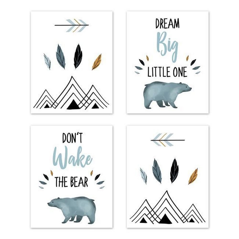 Bear Mountain Wall Art Prints - Set of 4