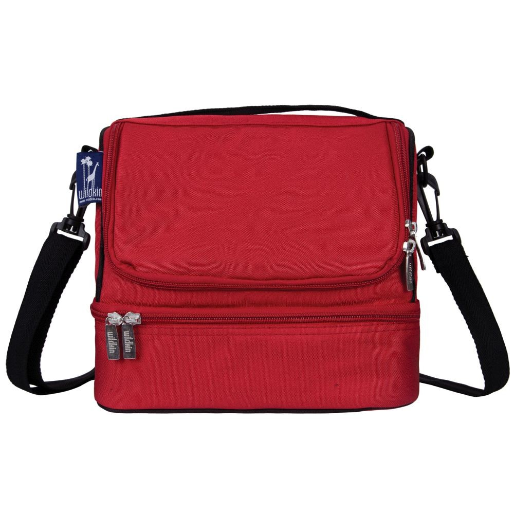 Cardinal Red Two Compartment Lunch Bag