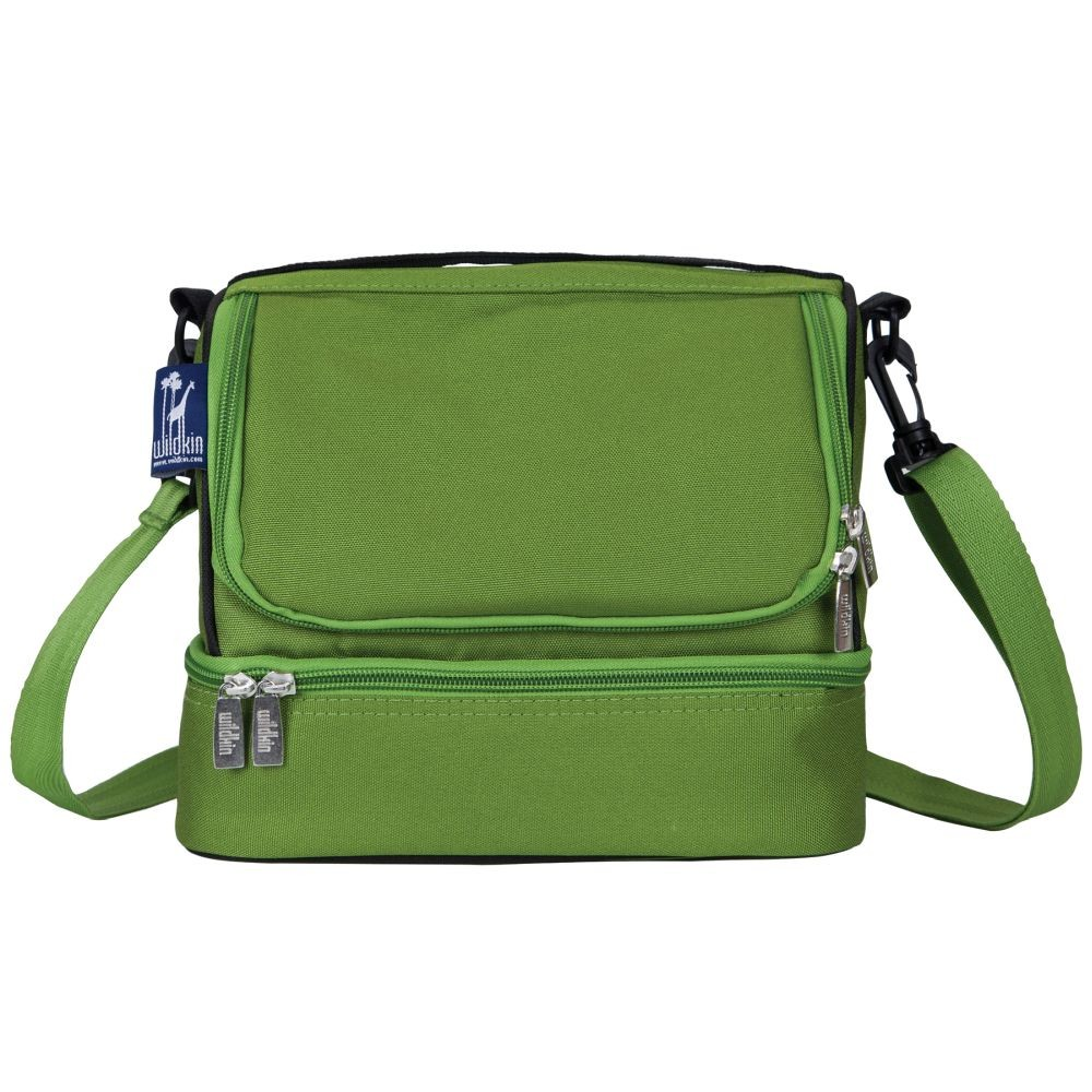 Parrot Green Two Compartment Lunch Bag