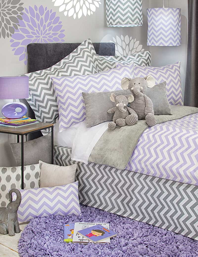 Swizzle Purple Duvet Cover by Sweet Potato - Twin Size - Clearance Price