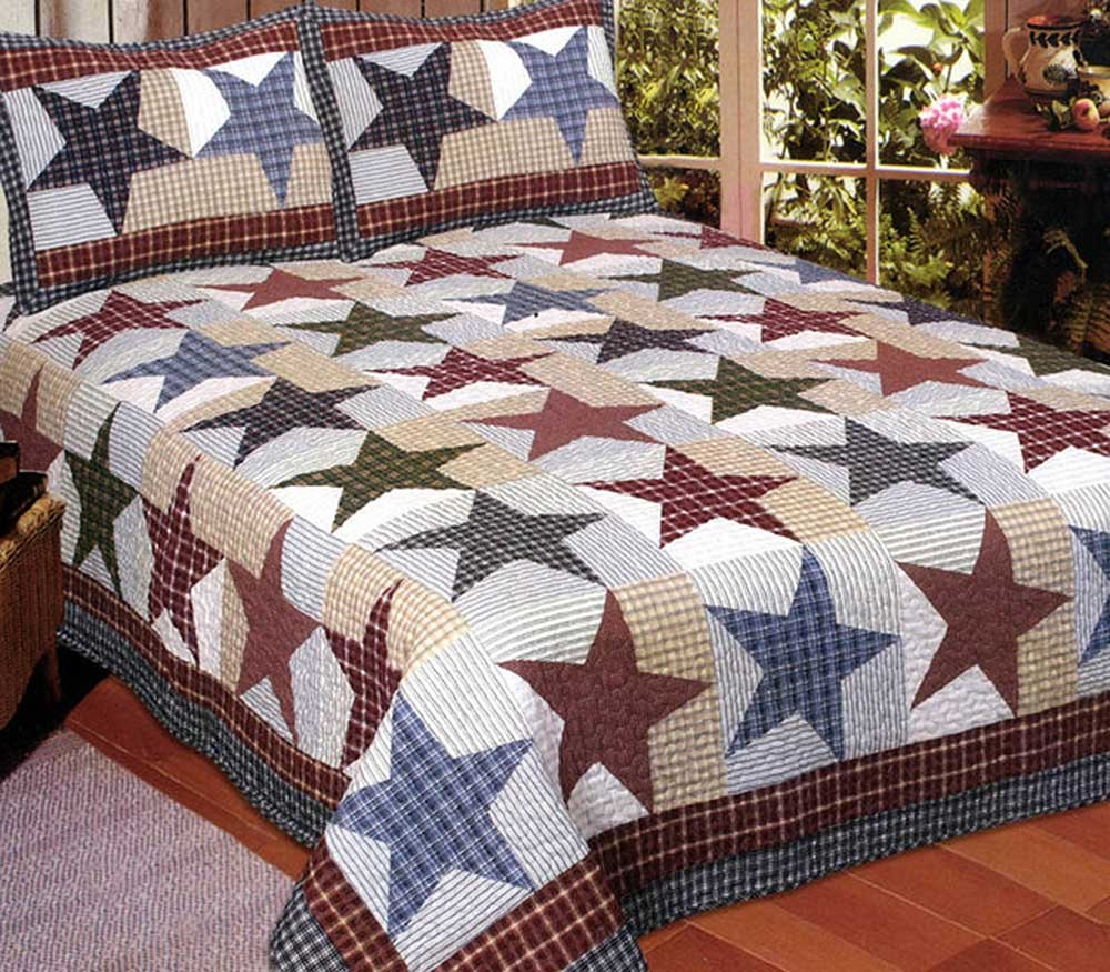 Nicholas King Size Quilt Set - Includes 2 Standard Pillow Shams